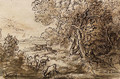 Venus and Adonis in an extensive Landscape with Deer - Claude Lorrain (Gellee)