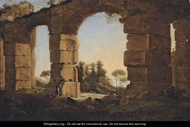 evening landscape with an aqueduct Théodore géricault was a french romantic fine art painter who lived a sadly short life from september 26 1791 to evening: landscape with an aqueduct.