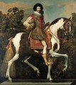 Equestrian portrait of a nobleman, traditionally identified as the Duke of Buckingham, full-length - Claude Deruet