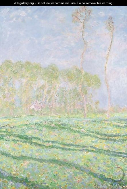 Paysage de Printemps AA  Giverny - Claude Oscar Monet