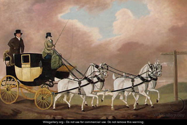 A Carriage on the London Road - Clifton Tomson