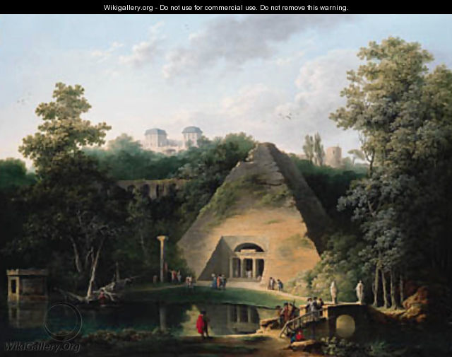 The Pyramid at the Chateau de Maupertuis - Claude Louis Chatelet