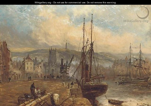 A view of Ramsay Harbour, with the Albert Tower beyond - Claude T. Stanfield Moore