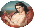 A young reclining beauty swathed in a robe - Constant Joseph Brochart