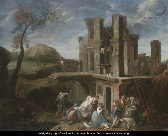 Bandits sacking a fortified house - (after) Vittorio Amadeo Cignaroli