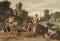 Joseph being lowered into the Well - Claes Cornelisz Moeyaert