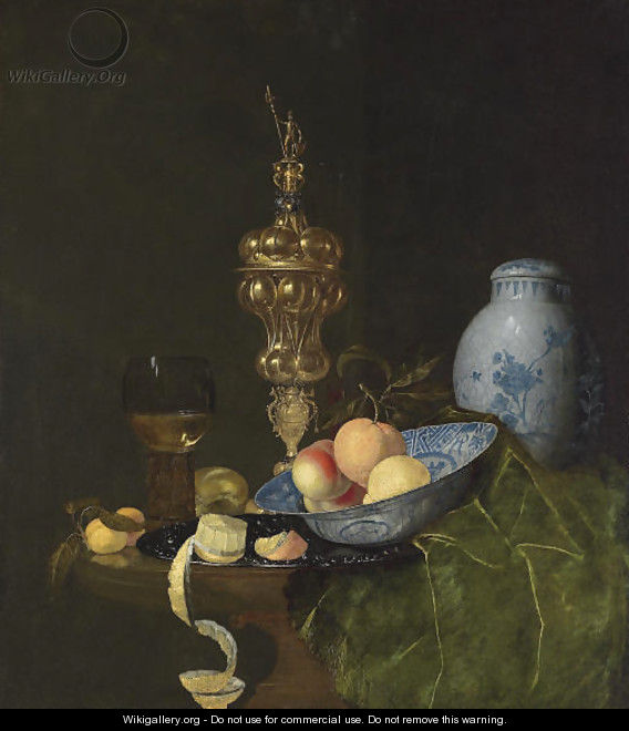 Still life with a roemer - Claes Bergoijs
