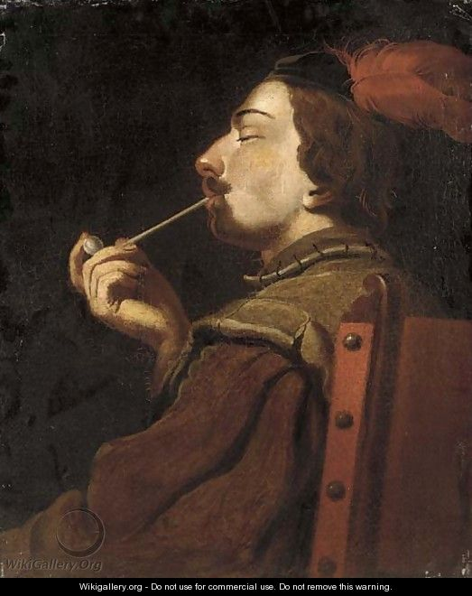 a man smoking a pipe english school wikigallery org the largest