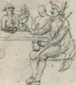 Figures in a tavern - English School