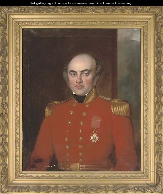 Portrait of Colonel John Colvin of the Bengal Engineers (1794-1878) - English School