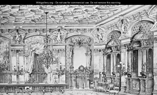 A View Of An Ornate Classical Dining Room - English School