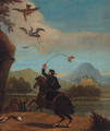 A Hunting Party in an extensive Landscape - English School