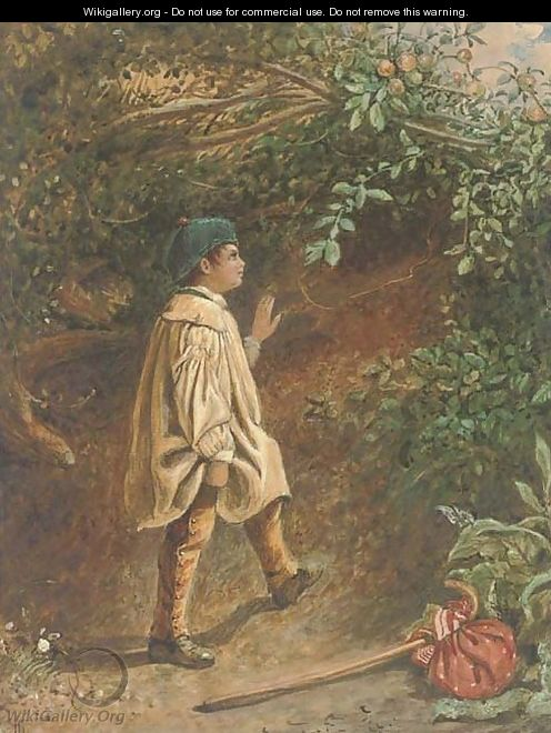 The young apple picker - English School