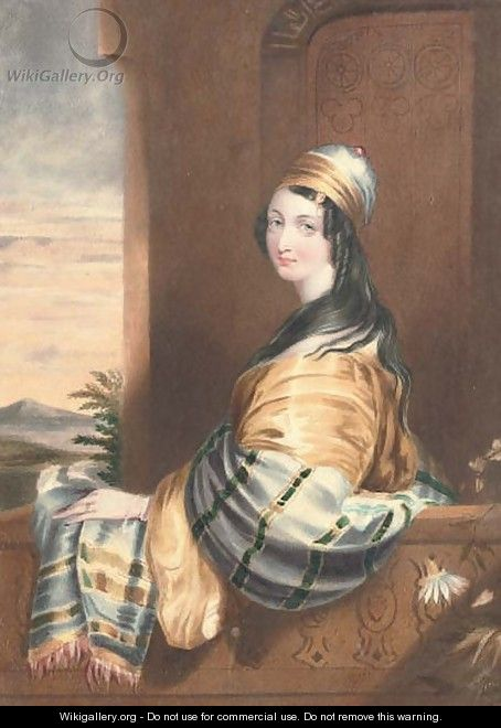 A lady in Eastern dress - English School