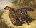 A grouse on a bank - English School