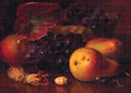 Pears, Cobnuts, Grapes in a wicker Basket, and a Wasp - Eloise Harriet Stannard