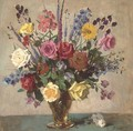 Summer flowers in a vase - Charles Emile Hippolyte Lecomte-Vernet