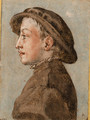 Portrait of a boy wearing a cap, in profile to the left - Emilian School