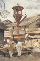 Birdhouse and Market-Ahmedabad, India - Edwin Lord Weeks
