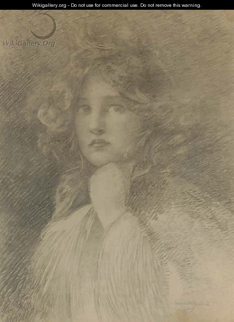 Portrait of a Girl - Edwin Howland Blashfield