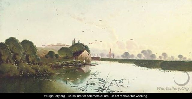 Tranquil waters - Henry John Boddington