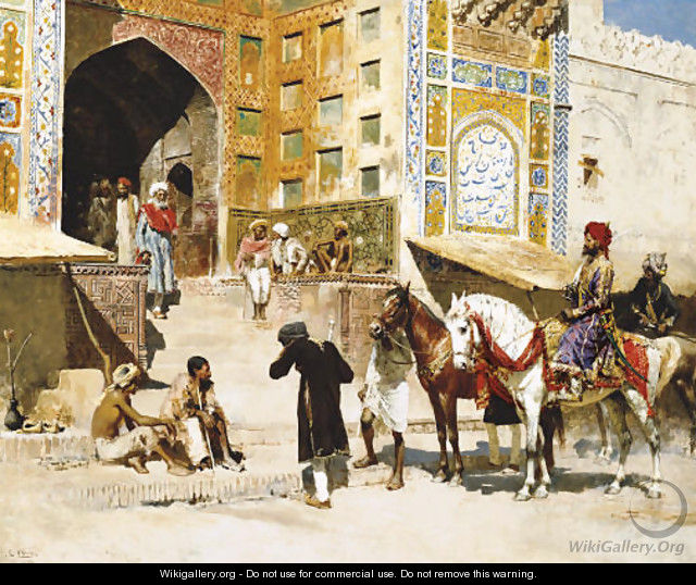 Steps of the Mosque Vazirkham, Lahore - Edwin Lord Weeks
