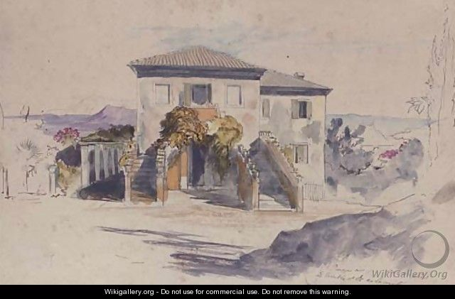 A summer retreat in Sicily - Edward Lear