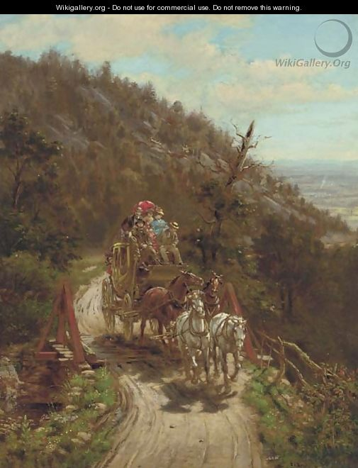The Stagecoach - Edward Lamson Henry