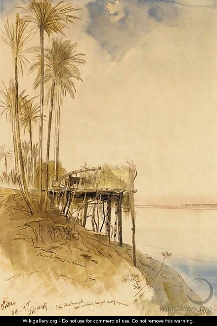 View of Toske on the Upper Nile - Edward Lear