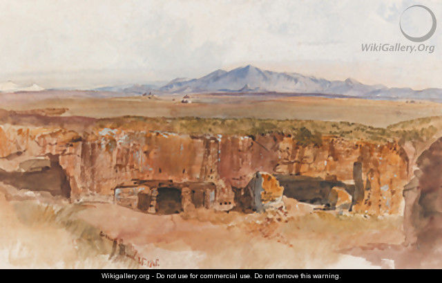 The Roman Campagna, possibly from Centocelle - Edward Lear