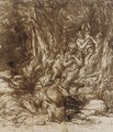 Hagar and Ishmael beside a well in the desert - Edward Stott