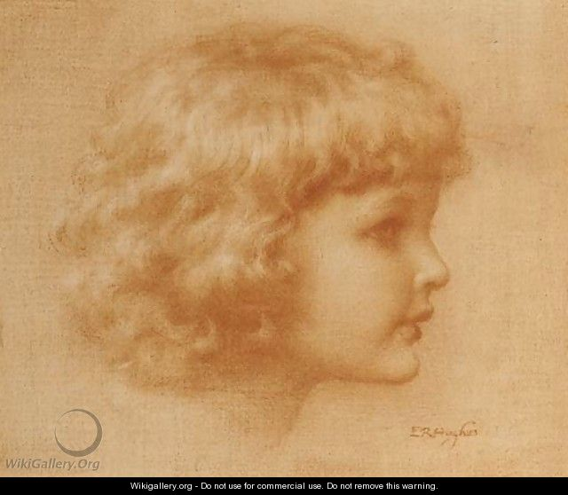 Head of a child - Edward Robert Hughes