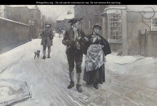 A stroll around London - Edwin Austin Abbey