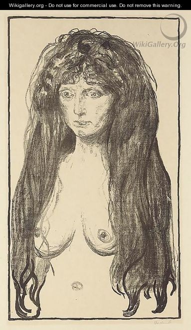 The Sin (Die Sutnde) - Edvard Munch