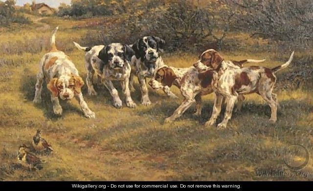 Five Pointer Puppies - Edmund Henry Osthaus