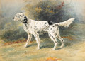 An English Setter in a landscape - Edmund Henry Osthaus