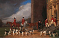 Sir John Cope with his Hounds on the Steps of Bramshill House, Hampshire - Edmund Havell Jnr.