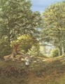 A woodland glade - Edmund George Warren