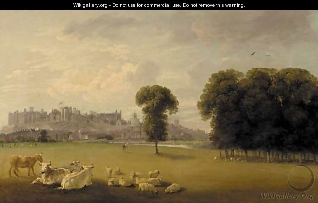 Windsor Castle from the Thames - Edmund Bristow
