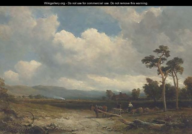 Tilling the land, early Autumn - Edmund Thornton Crawford