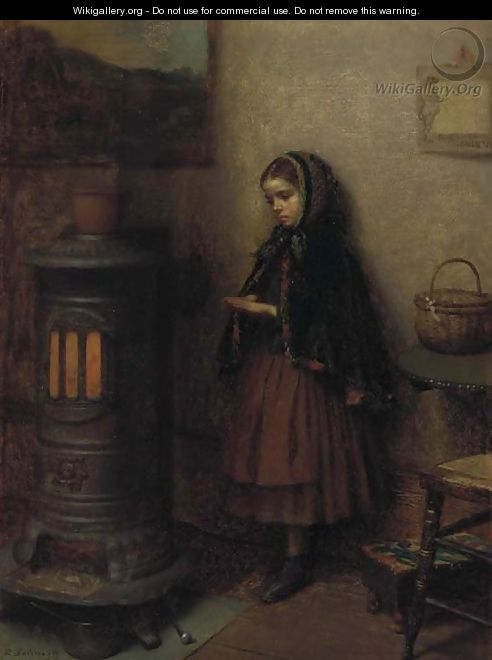 Warming Her Hands 2 - Eastman Johnson