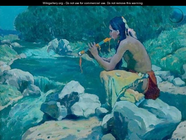 Flute Player, Rio Lucero, Taos, NM - Eanger Irving Couse