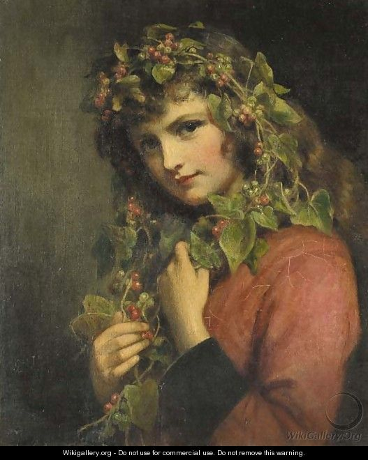 Portrait of a girl adorned with berries - Eden Upton Eddis