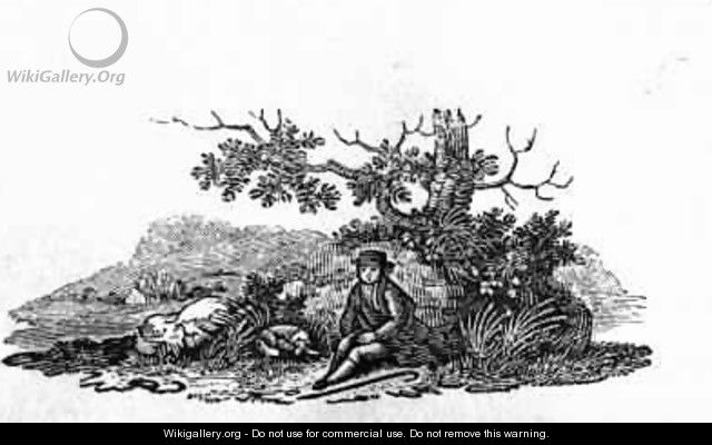 Man Seated by a Stunted Tree from