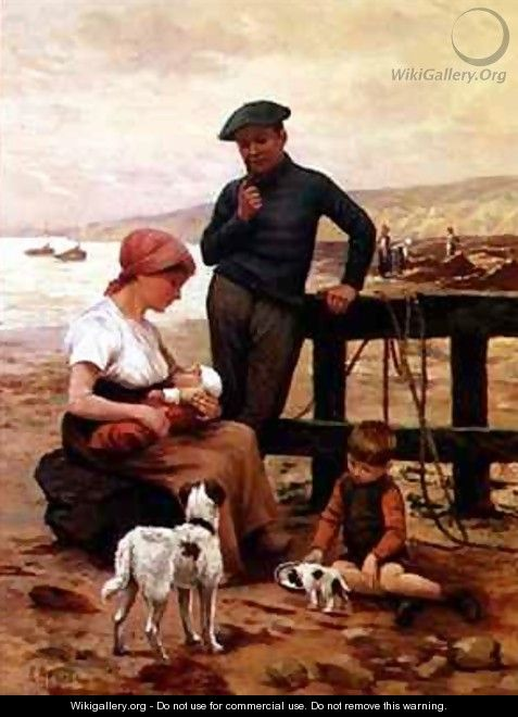 A Fisherman and his Family - Albert Besnou