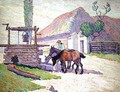 Well at Mydlow, Poland - Robert Polhill Bevan