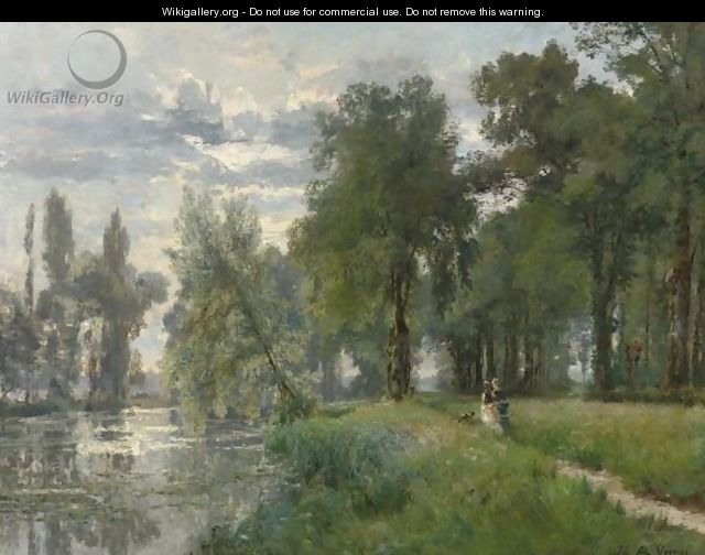 Walking By The River - Alexandre Rene Veron