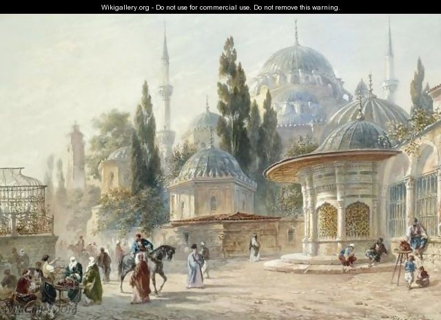 The Sehzade Mosque In Laleli, Constantinople - Eugene Napoleon Flandin