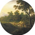 A Wooded Landscape With Cattle Grazing - William Tomkins