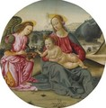 The Madonna And Child With An Attendant Angel - Gherardo di Giovanni del Fora